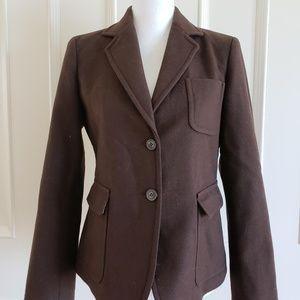 J. Crew Brown Wool Blend Jacket